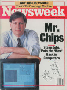 Steve Jobs Apple autograph signed Newsweek cover RR Auction