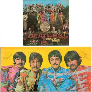 "Signed Beatles album cover, ""Sgt. Pepper's Lonely Hearts Club Band"" RR Auction"