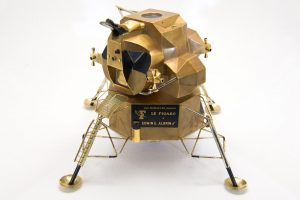 Buzz Aldrin's Apollo 11 Cartier solid gold Lunar Module replica, sold by RR Auction