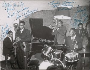 The Jazz Messengers vintage photo signed by the band RR Auction