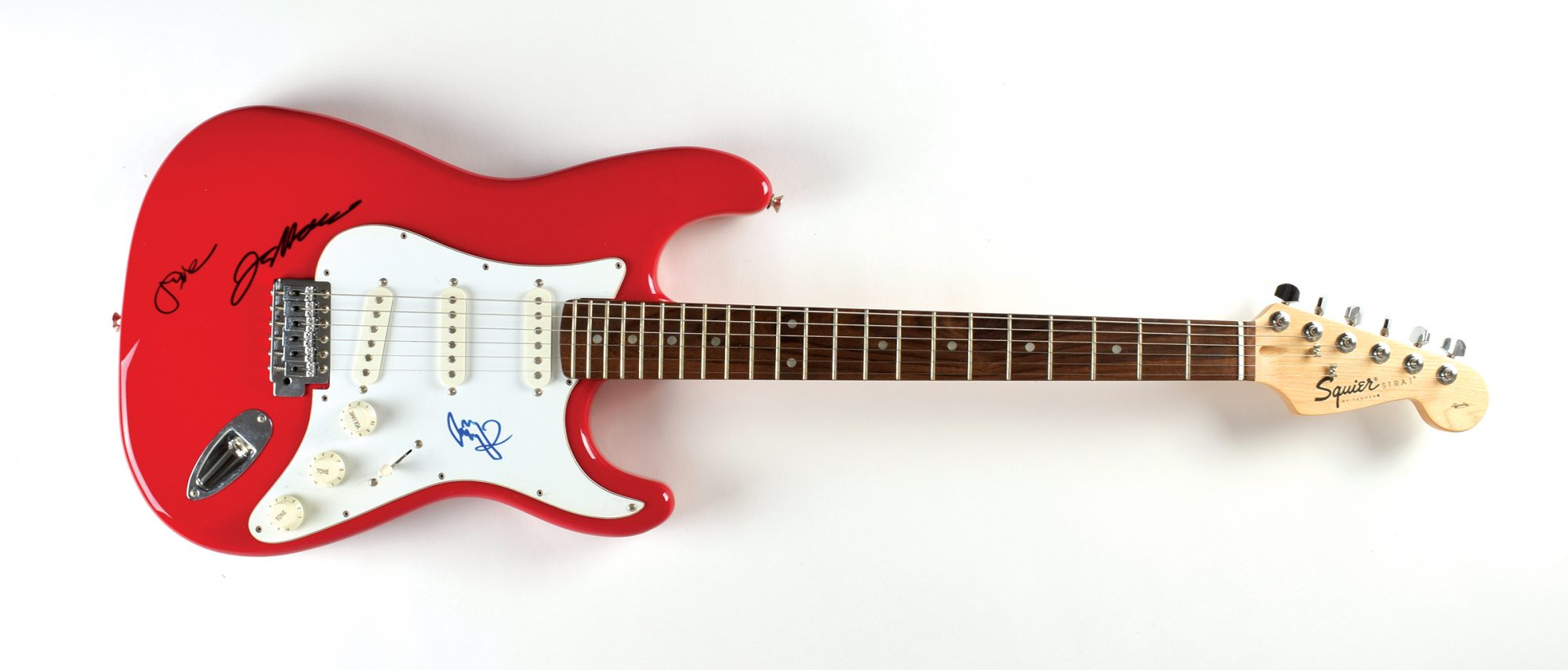 Stratocaster autographed by Eric Clapton Jeff Beck Jimmy Page John Brennan Collection RR Auction
