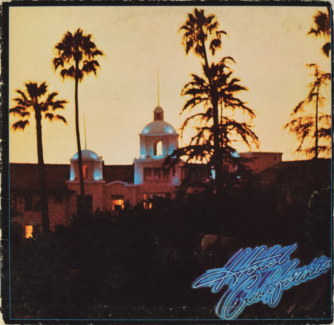 "autograph Eagles ""Hotel California"" album, signed by Don Henley, Glenn Frey, Joe Walsh, Don Felder and J.D. Souther John Brennan Collection RR Auction"