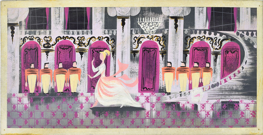 Mary Blair concept painting from Cinderella. Offered by RR Auction.