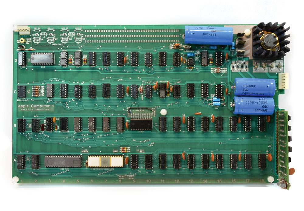 Steve Jobs, 'Byte Shop'-style Apple-1 computer Apple I, Apple Computer 1 offered by RR Auction